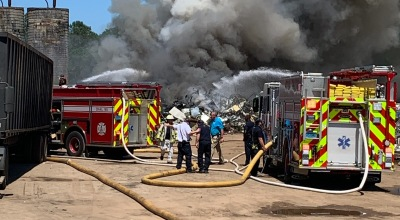Brantley Scrapyard fire